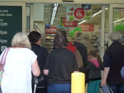 First customers enter new Budgens store